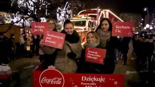 Świąteczna ciężarówka Coca-Cola w Szczecinie   #Dziekuje