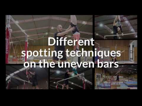 Videos Gymnastics: Various Spotting Techniques On The Uneven Bars - GymneoTV