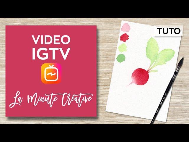 La MINUTE CREATIVE #11 Peindre un radis à l'aquarelle (TUTO IGTV)