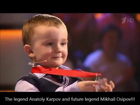 Misha Osipov (3 yo) vs Anatoly Karpov (2016)