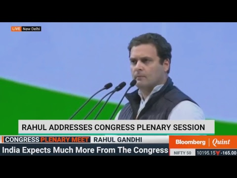 Rahul Gandhi Addresses Party Workers