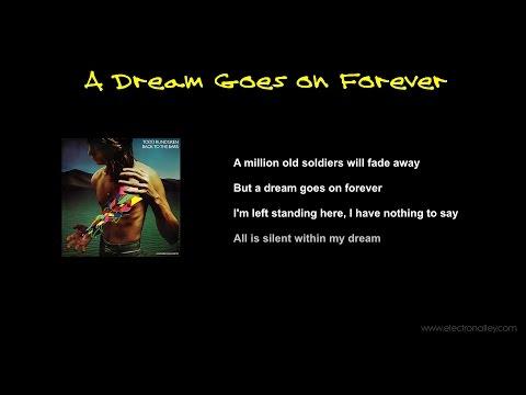 Todd Rundgren - A Dream Goes on Forever Lyrics