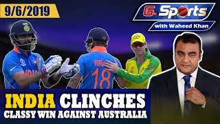 India clinches classy win against Australia | G Sports with Waheed Khan 9th June 2019