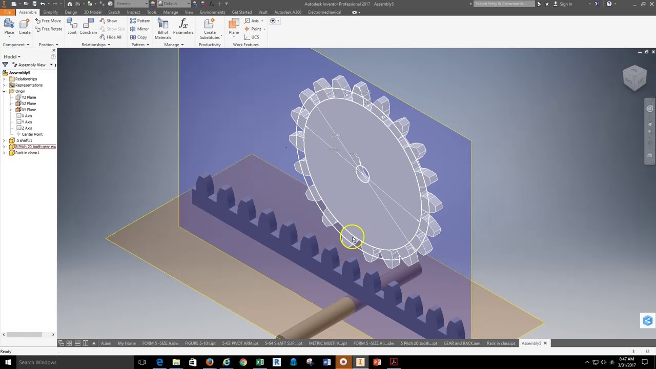 Inventor rack and gear animation constraints youtube inventor rack and gear animation constraints ccuart Image collections