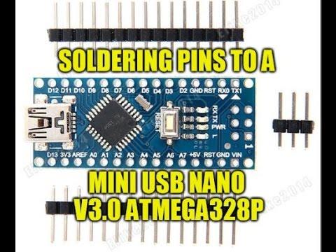 Mandalaa Mini Breadboard-Friendly USB Nano V3.0 Atmega328 5V Micro-Controller Board Voltage Regulator for Arduino-Compatible