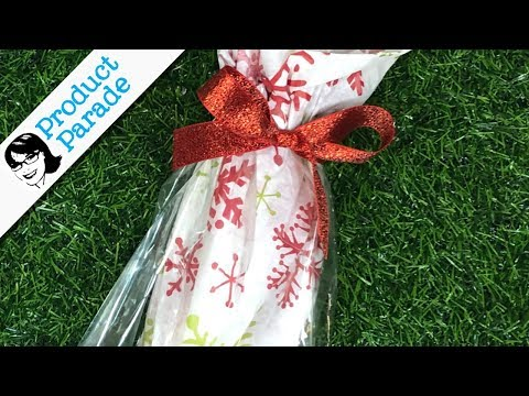 Gift Wrapping With Clear Bags And Tissue Paper