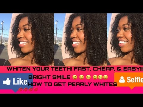 WHITEN YOUR TEETH! FAST & CHEAP!!!!! IT WORKS!