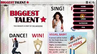 Biggest Talent registration tutorial in English.