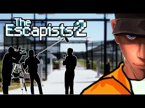 The Escapists 2 ESCAPE WITH THE CAMERA CREW - Center Perks 2.0   Let's play The Escapists 2 Gameplay