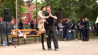 Аргентинское танго в Томске. Выступление в городском саду. Обучение с нуля, Школа танцев Драйв(Обучение аргентинскому танго в Томске с