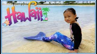 HAWAII at Hilton Hawaiian Village, Mermaid Swim, Water Boat Family Vlog | Vlog with Emma
