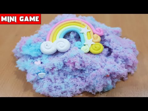 Chị EMY TẶNG BỘ KIT LÀM SLIME MÂY 💖 MINI GAME #1 💖 How To Make Cloud Slime