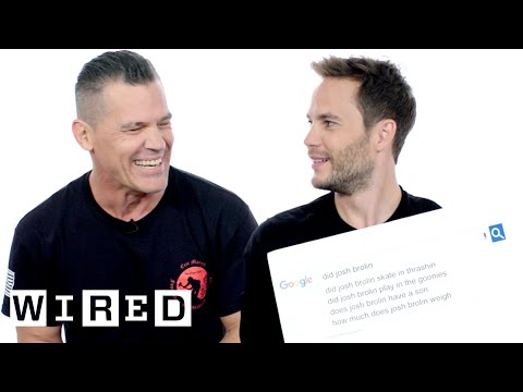Josh Brolin & Taylor Kitsch Answer the Web's Most Searched Questions  WIRED
