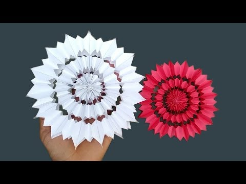Diy 3D Paper Snowflakes। Birthday Decoration ideas at home