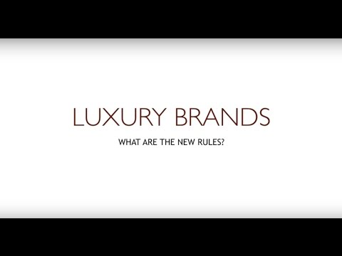Luxury Brands and The New Exclusivity : Andre Taylor