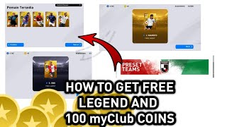 New VPN TRICK ❤ How Get FREE LEGENDS AND 100+ myClub COINS || PES 2020 MOBILE NEW TRICK