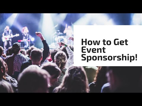 How to Get Event Sponsorship!
