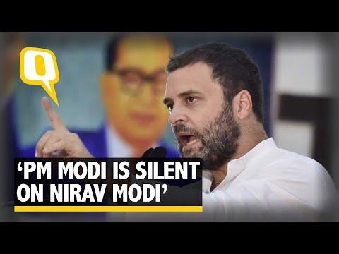 """Why Are PM Modi & FM Jaitley Silent on Nirav Modi?"" Asks Rahul Gandhi | The Quint"
