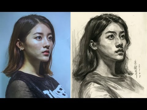 How to Draw a Portrait of Beautiful Girl