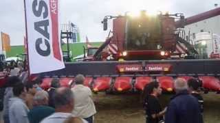 huge case ih 8230 axial combine feira nacional agricultura 2013 portugal