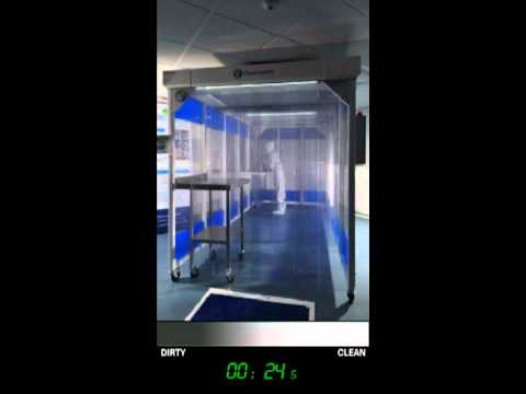 Smoke filled cleanroom clears in 60 seconds