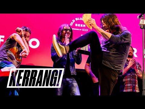 DAVE GROHL Dirk Diggler-inspired acceptance speech: Kerrang! Awards 2018