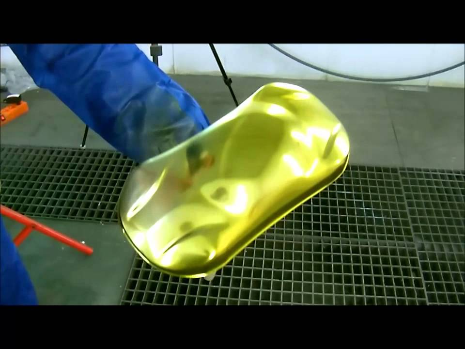 gold paint - YouTube