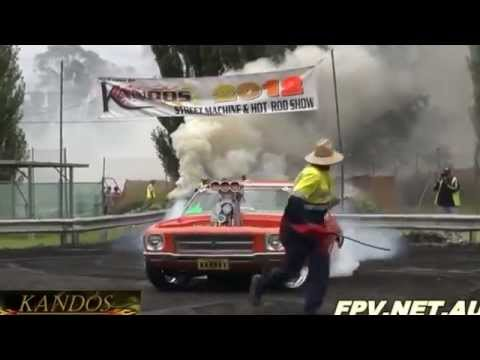 Power of Australian muscle car (Big block blower holden)
