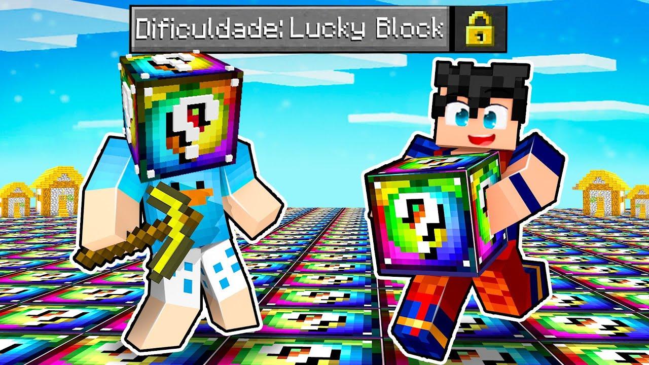 Download BETO VS DAVI: MUNDO DE LUCKY BLOCK SPIRAL NO MINECRAFT! (SORTE OU AZAR?)