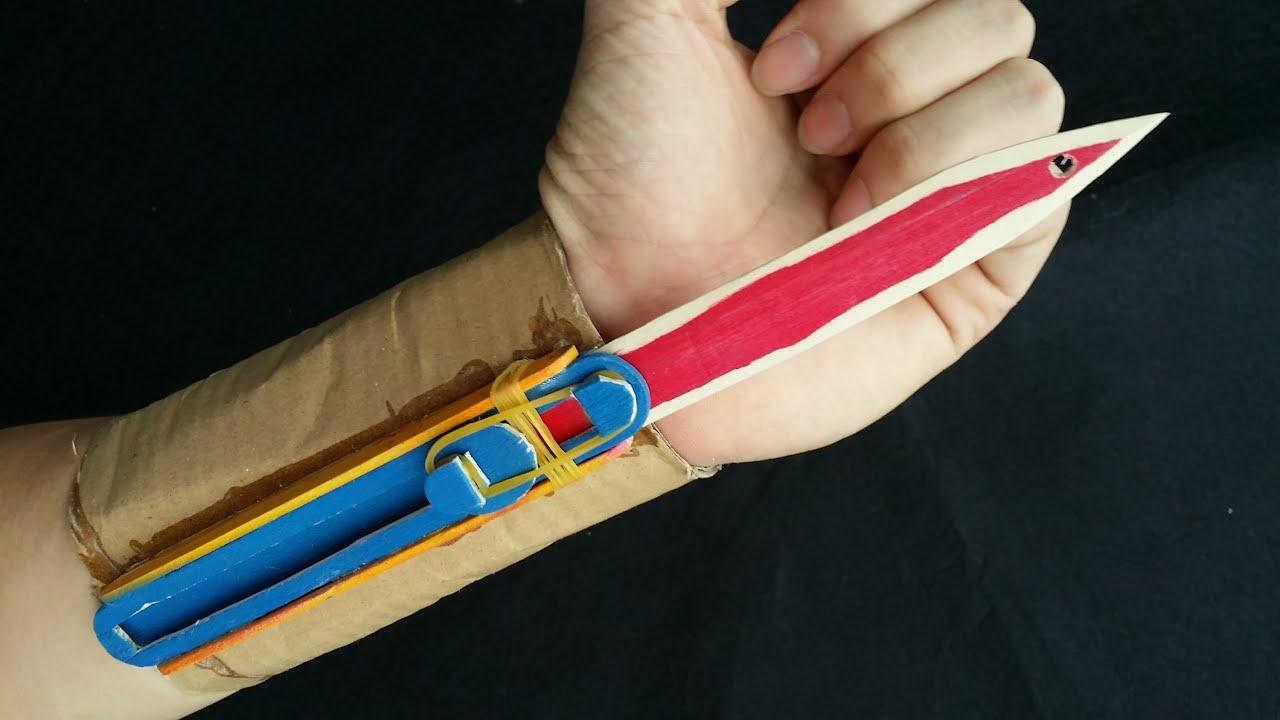 Как сделать скрытый клинок ассасина из бумаги