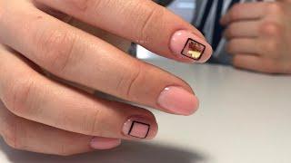Геометрия на ногтях комбинированный маникюр