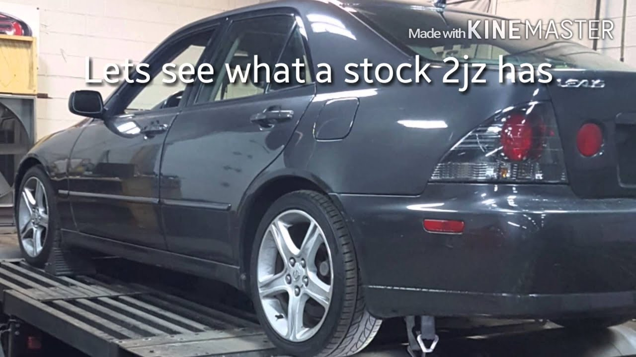2003 Lexus IS300 dyno run stock