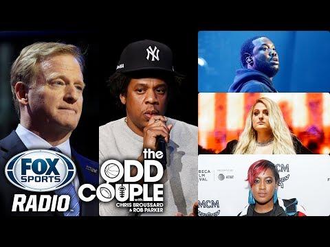 Jay-Z, NFL Launch Inspire Change Program, Meek Mill & Meghan Trainor Join | THE ODD COUPLE Mp3