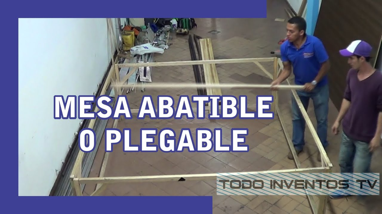 Mesa plegable abatible new model original v for Mesa plegable trabajo