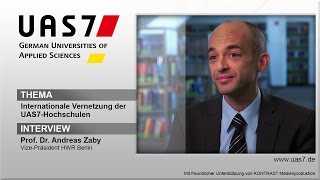 UAS7 HWR Berlin - International Networks - Interview with Vice President Andreas Zaby