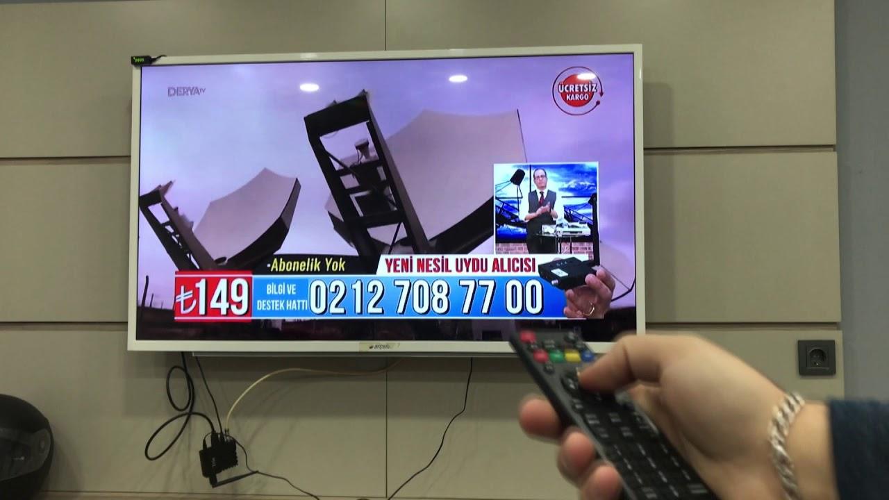 Abonelik ücreti olmadan uydu TV nerede bulunur