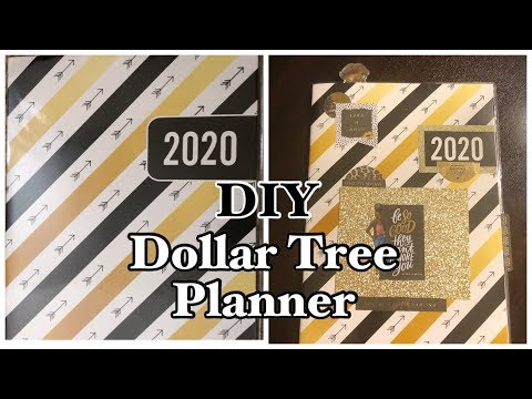 DOLLAR TREE PLANNER DIY| LETS LEVEL UP SERIES #1