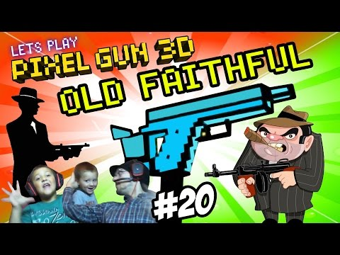 Dad & Son Play Pixel Gun 3D: OLD FAITHFUL! Mafia Wars/Pasta & Meatballs (Part 20 Face Cam)
