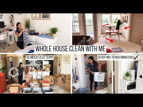 WHOLE HOUSE CLEAN WITH ME!! / CLEANING MOTIVATION // CLEANING ROUTINE // Jessica Tull