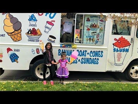 Kids Buying Ice Cream From Ice Cream Truck Fun Video