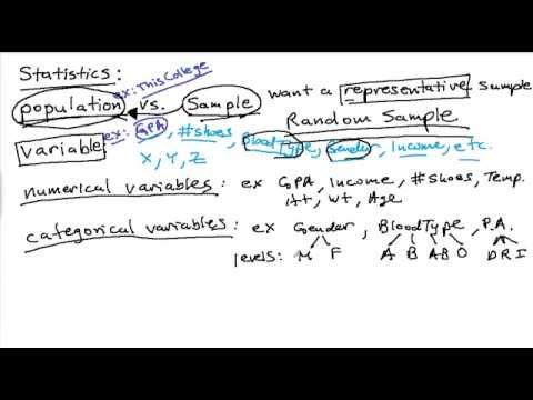 Elementary Statistics Review 1 - Basic Concepts - YouTube