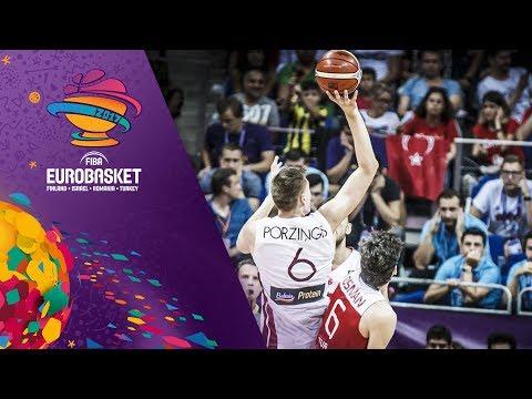 Kristaps Porzingis and Cedi Osman duel in epic EuroBasket matchup!