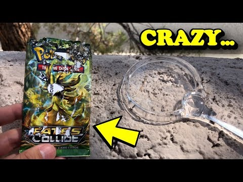 What happens when you use the SUN + MAGNIFYING GLASS on POKEMON CARDS?
