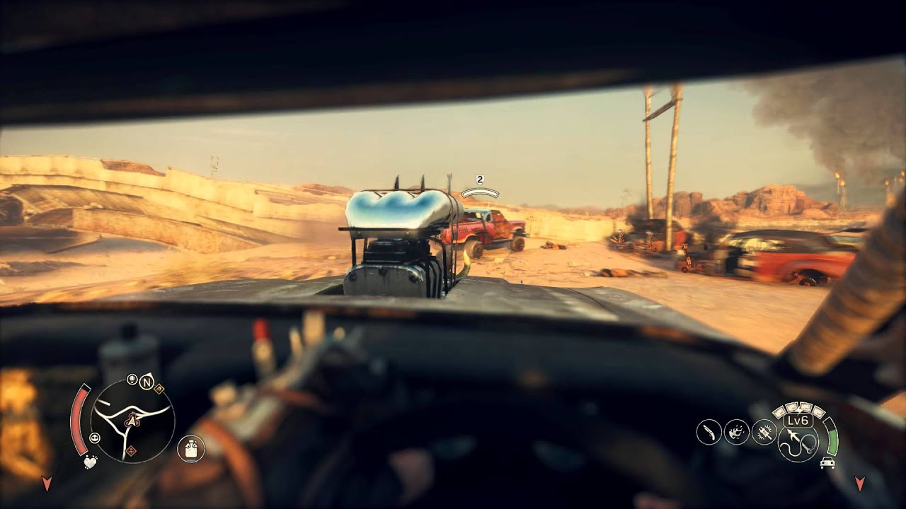 mad max first person car combat 60 fps