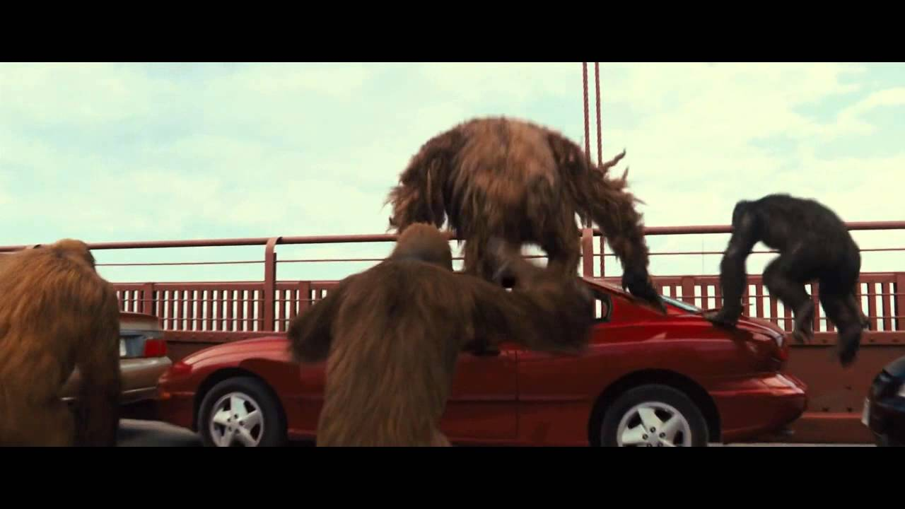Rise of the Planet of the Apes 2011 -The bridge scene ...