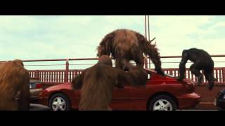 Rise of the Planet of the Apes 2011 -The bridge scene-