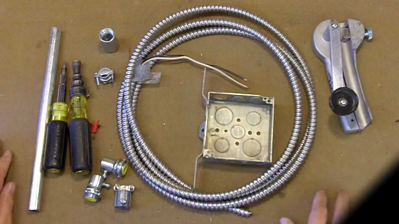 practical electrical wiring mc to emt connectors youtube rh youtube com connecting mc cable to box Type MC Cable