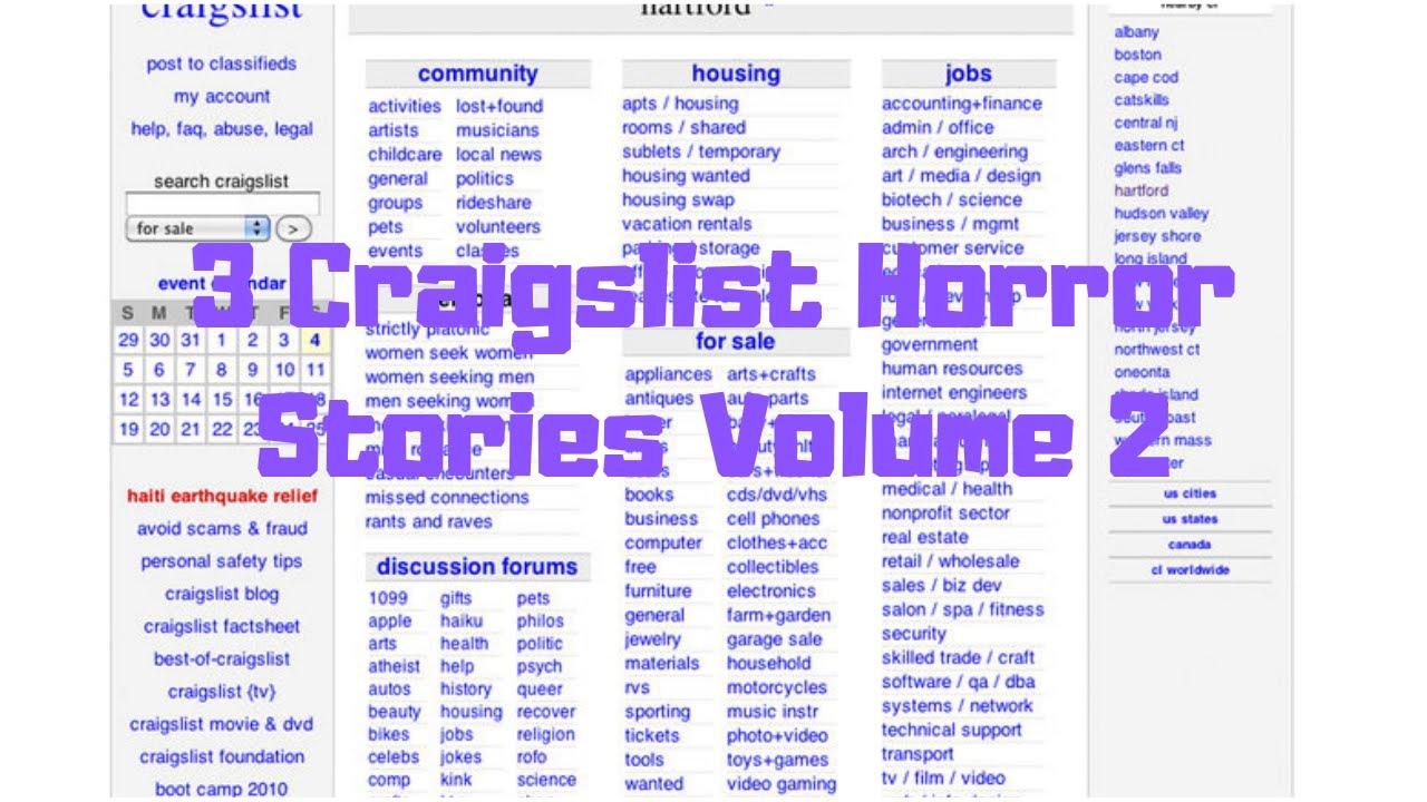 3 Craigslist Horror Stories Volume 2 (Ft Freaky Attraction)
