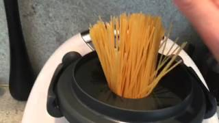 Cooking pasta using a Thermomix