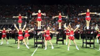 100924 Katy HS drill team performs to Patton